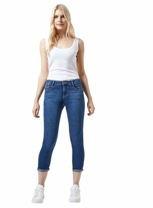 Dorothy Perkins Women's Blue Regular Length Mid Wash Harper Jeans 12