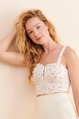 Urban Outfitters Zella Ruched Tie-Shoulder Tank