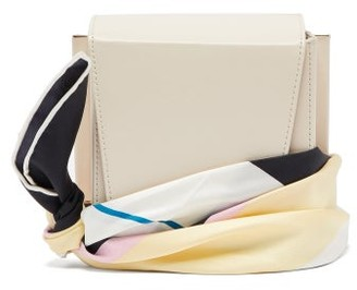 Roksanda Box Scarf-strap Leather Cross-body Bag - Womens - Cream