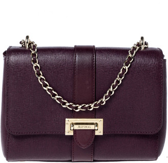 Aspinal of London Burgundy Leather Small Lottie Shoulder Bag