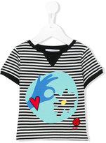 Rykiel Enfant graphic print striped T-shirt