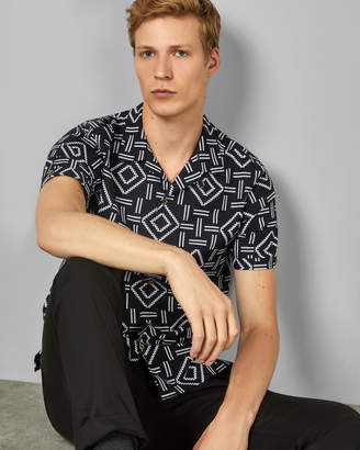 Ted Baker SIMON Short sleeved cotton printed shirt