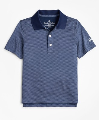 Brooks Brothers Boys Performance Series Dobby Polo Shirt