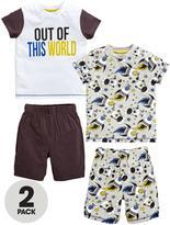 Mini V by Very Boys 2pk Space Short Pyjamas