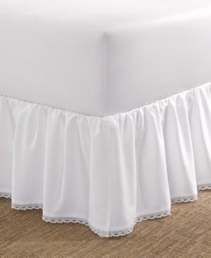 Laura Ashley Crochet Ruffle King Bedskirt Bedding