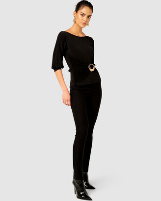 SACHA DRAKE - Women's Workwear Tops - Cowl-Tie Drape Top - Size One Size, 8 at The Iconic