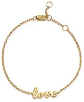 Jennifer Zeuner Jewelry Addison Cursive Love Bracelet