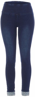 Slim Sation SLIM-SATION Women's Pull-on Solid French Terry Legging with Cuff
