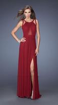 La Femme 20092 Long Net Jersey Prom Dress