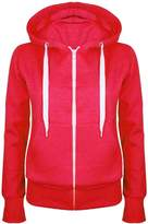 Oops Outlet Ladies Plain Hoody Girls Zip Top Womens Hoodies Sweatshirt Jacket Plus Size 6-22
