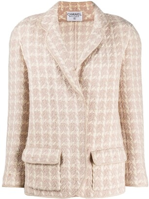 Chanel Pre Owned 1980s Check Pattern Jacket