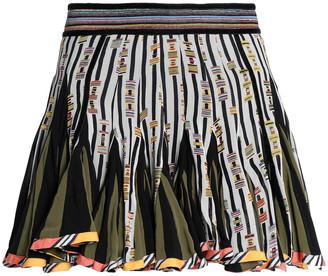 Talitha Collection Printed Silk-chiffon Mini Skirt