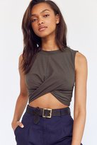Project Social T Shelley Cross-Front Cropped Tank Top