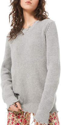 Michael Kors Distressed Crewneck Sweater