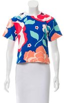 Kate Spade Short Sleeve Abstract Print Top