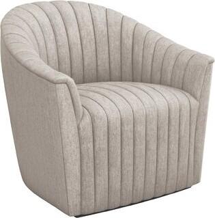 Interlude Channel Swivel Barrel Chair Fabric: Bungalow