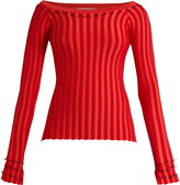 Altuzarra Tatum ribbed-jersey top