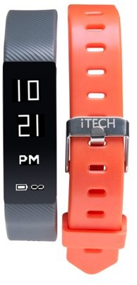 Itech iTech Sport Activity Tracker with Interchangeable Strap, Grey Camo/Grey
