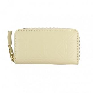 Comme des Garcons White Leather Purses, wallets & cases