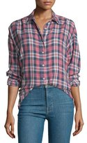 The Great The Big Long-Sleeve Shirt, Washed Cherry Plaid