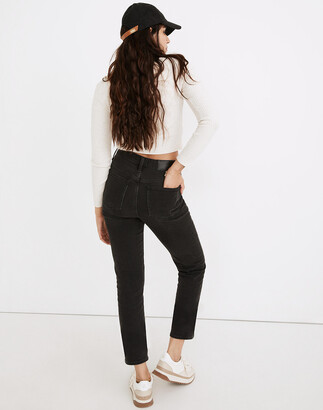 Madewell Petite Classic Straight Jeans in Lunar Wash