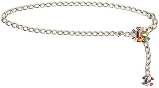 Chanel Pre Owned CC National Flag chain belt