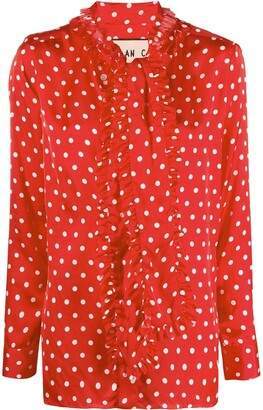 Plan C Polka Dot-Print Blouse