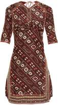 Isabel Marant Tacey open-back printed dress