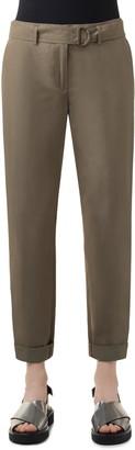 Akris Punto Fallon Belted Cotton Crop Chino Pants