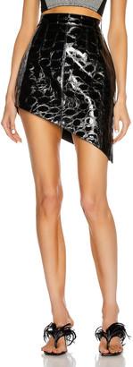 Alexander Wang Asymmetric Mini Skirt in Black | FWRD