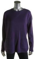 Lauren Ralph Lauren Womens Cashmere Ribbed Knit Pullover Sweater