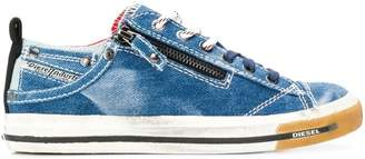 Diesel denim low-top sneakers