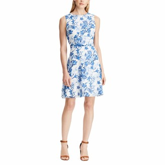 Chaps Women's Fit & Flare Floral Georgette Dress