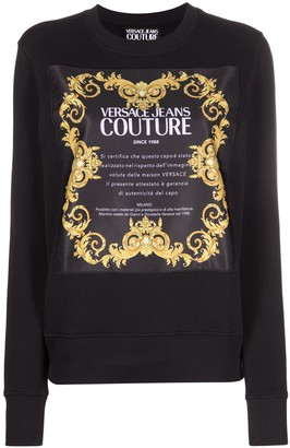 Versace Jeans Couture Logo-Print Crew-Neck Sweatshirt