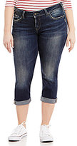 Silver Jeans Co. Plus Elyse Cuffed Capri
