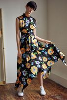 Boutique Silk hanky hem printed dress