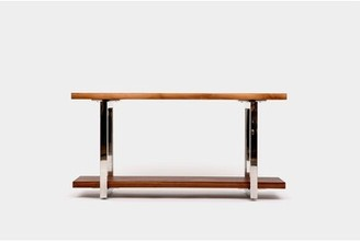 """Artless Gax Console Table Table Base Color: Stainless Steel, Size: 30"""" H x 84"""" W x 18"""" D"""