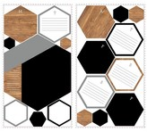 Roommates Decal - Dry Erase Hexagons