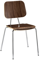 Modway Plywood 4 Metal Leg Dining Chair