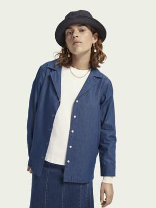 Scotch & Soda 100% cotton long sleeve denim shirt   Women