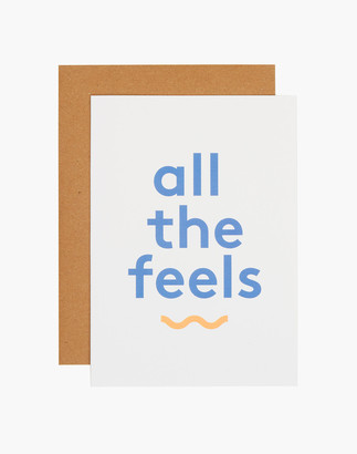 Madewell grl & co. All The Feels Greeting Card