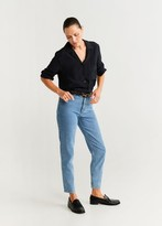 MANGO Chest-pocket flowy blouse