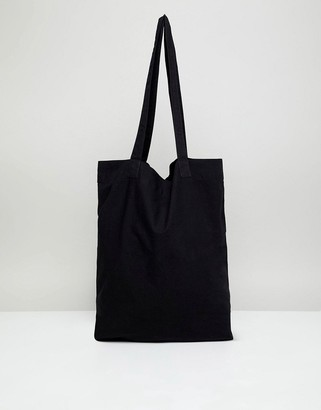 Asos DESIGN tote bag in black organic cotton