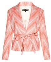 Rochas Chevron-woven tweed jacket
