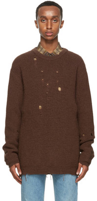 Gucci Brown Wool Oversized Sweater