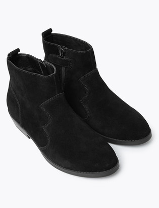 Marks and Spencer Kids' Suede Freshfeet Ankle Boots (13 Small - 6 Large)