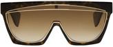 Loewe Tortoiseshell Masque Sunglasses