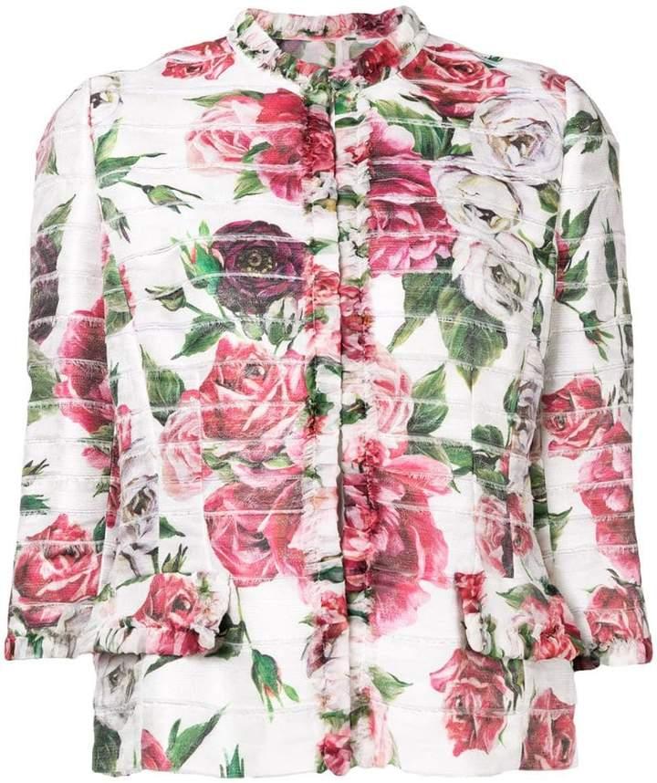 Dolce & Gabbana floral print cropped jacket