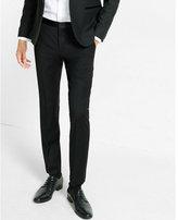 Express skinny innovator black wool blend tuxedo pant