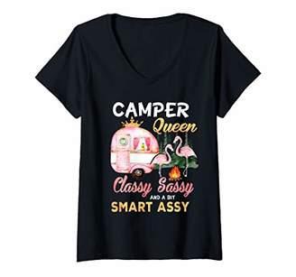 Camper Womens Queen Classy Sassy A Bit Smart Assy V-Neck T-Shirt